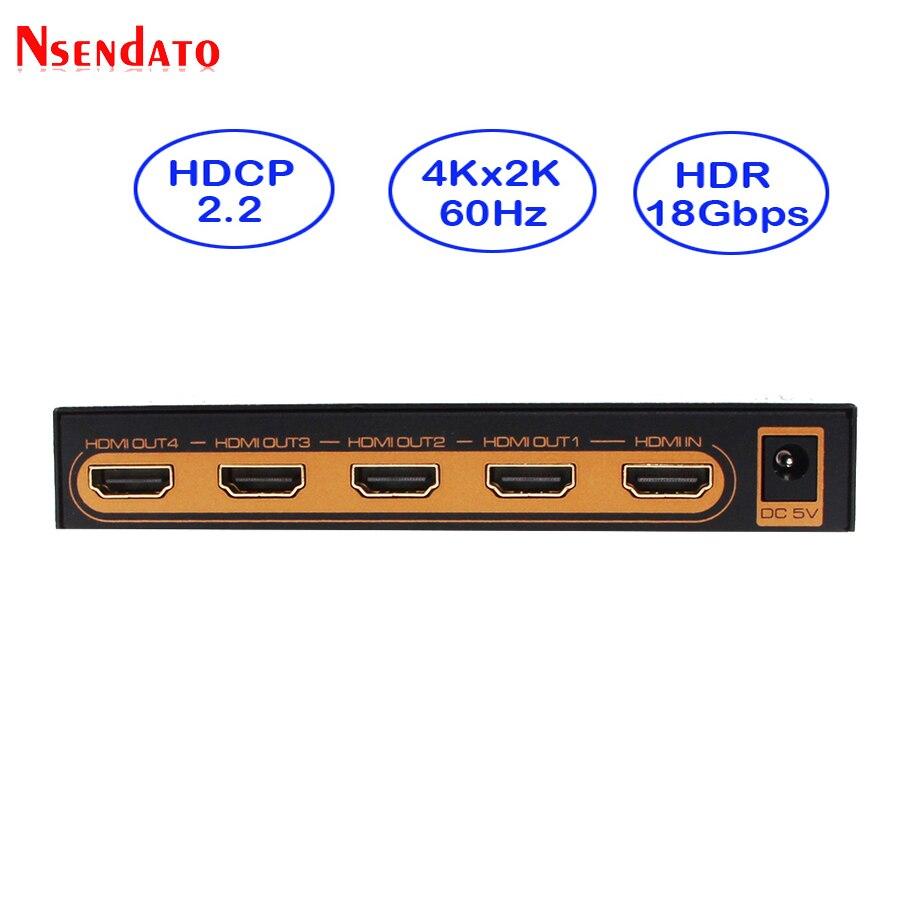 4 k HDMI Splitter 1X4 4 K x 2 K 60Hz 1 In 4 Out HDMI Switch convertitore con adattatore di Alimentazione Per HDCP2.2 DTS Dobly 1080 p 4 K HDTV Monitor-in Cavi HDMI da Elettronica di consumo su AliExpress - 11.11_Doppio 11Giorno dei single 1