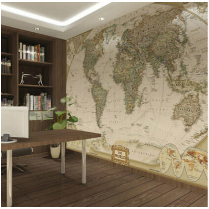 World map wall mural for Wallpaper for large rooms