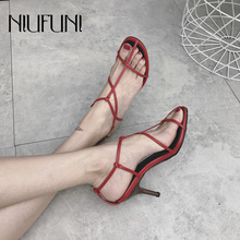 2019 Solid Color Round Head Women's Sandals With Ankle Strap High Heels Roman Shoes Stiletto Open Toe Hollow Casual Female Sexy цена 2017