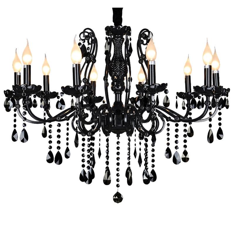 Luxusní černé křišťálové lustry Diamond K9 křišťálové - Vnitřní osvětlení