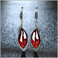 HTB1S1kMmFOWBuNjy0Fiq6xFxVXav - JIASHUNTAI Retro 100% 925 Sterling Silver Round Garnet Drop Earrings For Women Natural Red Gemstone Ruby Fine Jewelry Best Gifts