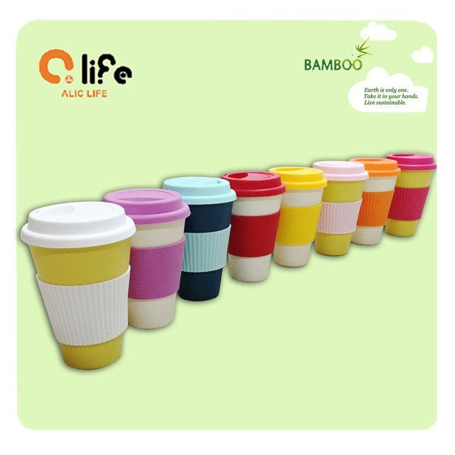 Hot Eco Cup Ceramic Coffee Tea Cup Mugs With lid Healthy Bamboo Fiber Drinkware Eco Friendly Outdoor Travelling Cups and Mugs