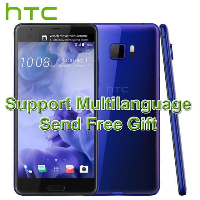 2017 New Original HTC U Ultra 4G LTE Mobile Phone 5.7 inch Quad HD Snapdragon 821 Android 7.0 4GB 64GB 3 Cameras Fingerprint ID