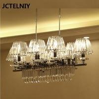 Crystal Chandelier LED Long Modern Crystal Restaurant Chandelier Hotel Bar Dining Room New Chinese Designer Lamp