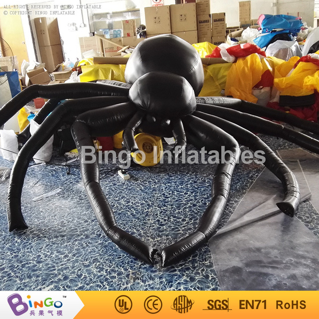inflatable halloween hanging spider 10ft./3m airblown black spider halloween decoration BG-A0803 toy