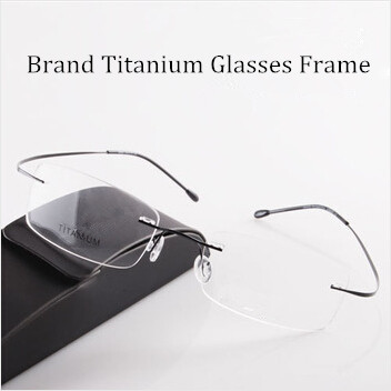 d73be41dce Chashma Brand Brand Titanium Optical Glasses Women and Men Fashion Rimless  Ultra Light 2 G Only Optical Glasses Frame