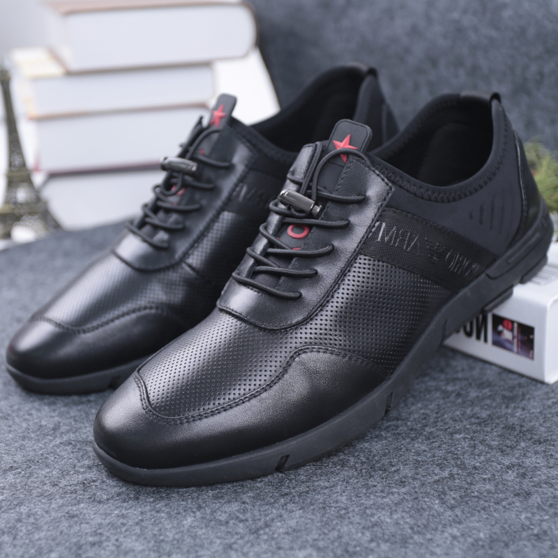 SHUANGFENG Men Casual Shoes Genuine Leather Man Shoes 2018 Summer - Men's Shoes - Photo 4