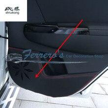 4 шт./лот для 2016 2017 Kia Sportage MK4 Искусственная кожа автомобиля наклейки аксессуары защита Двери Kick крышка автомобильные аксессуары