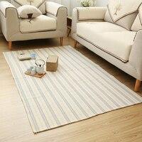 WINLIFE Simple Blending Cotton Carpets Living Room/Bedroom/Hall Rugs Soft Mats Tea Table Mats Home Carpets Washable Rugs