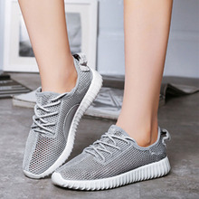 Summer Flat Shoes Woman Comortable Casual Lace-Up Flats Breathable Outdoor Women Shoes 3 Colors Weave Trainers Mesh Loafer Shoes