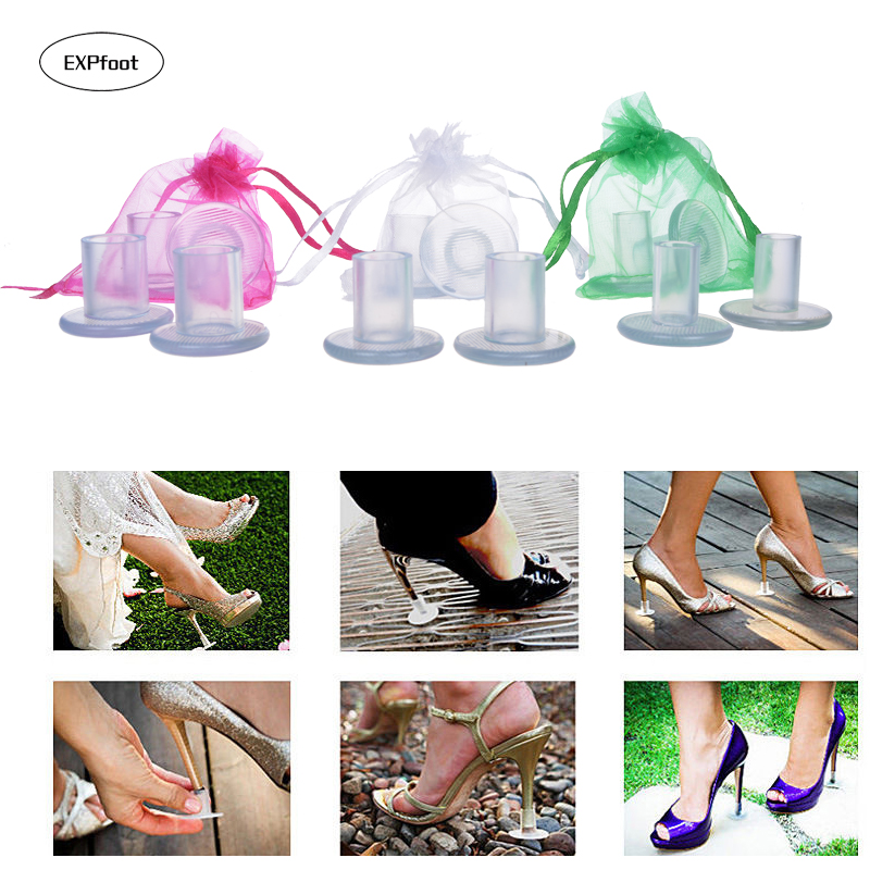 20 Pairs / Lot High Heel Protectors Stopper Antislip Stiletto Dancing Covers For Walking In Grass Outdoor Wedding Party Favor
