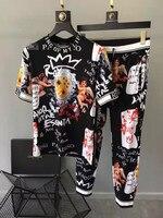 AH03758 модные для мужчин джинсы для женщин 2019 взлетно посадочной полосы Роскошные известный бренд Европейский дизайн вечерние стиль