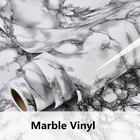 Gray Marble Waterproof Vinyl Self adhesive Wallpaper Sticker Modern Contact Paper Kitchen Countertop Shelf Drawer Liner Decals