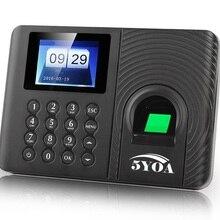 A10 Biometric Fingerprint Time Attendance Clock Recorder Employee Recognition Device Electronic English Spanish Russian Machine