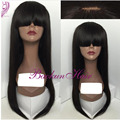 Cheap synthetic wig glueless heat resistant synthetic lace wig for black women no lace synthetic wigs with bang