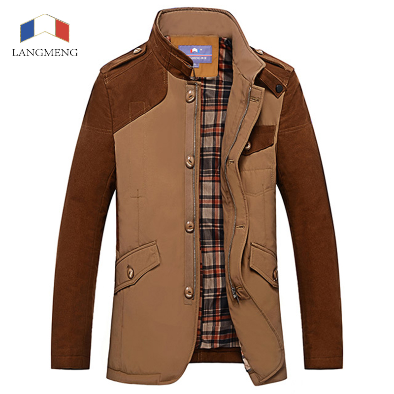 Langmeng 2015 man jacket Coats man's fashion clothes hot sale winter overcoat outwear wholesale brand quality blazers 3 colors