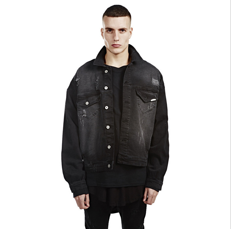 Black Denim Mens Jacket - Coat Nj
