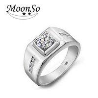 925 Sterling Silver Engagement Diamond Men Delicate Real Ring And Elegant Men Ring LR303
