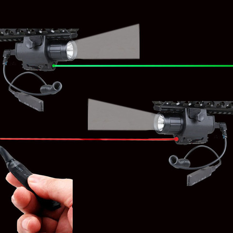 combinacao verde vermelho laser vista led