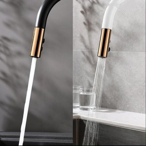 Image 4 - Newly Arrived Pull Out Kitchen Faucet Rose gold and White Sink Mixer Tap 360 degree rotation  kitchen mixer taps Kitchen Tap