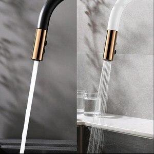 Image 4 - Nieuw Aangekomen Trek Keukenkraan Rose Goud En Wit Sink Mengkraan 360 Graden Rotatie Keuken Mengkranen Keuken tap