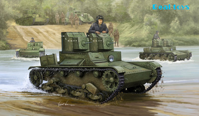 купить Hobby Boss 1/35 82494 Soviet T-26 Light Infantry Tank Mod.1931 Plastic Model Kit по цене 1591.14 рублей