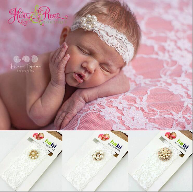 baby girl headband Infant hair Band   Headwear   tiara headwrap Toddlers Ribbon Kid crystal pearl turban bow newborn Hair Accessorry