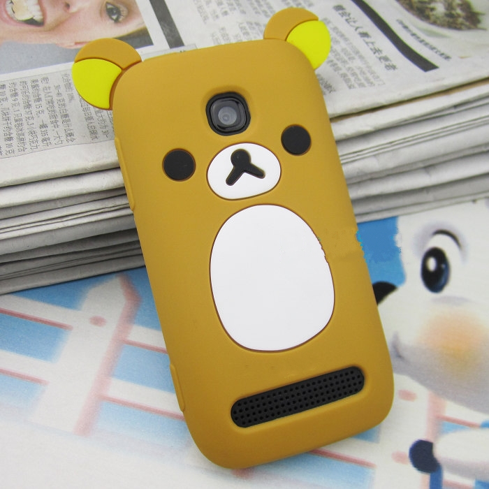1 Piece + Free shipping,Cute Teddy Bear Silicon Case for