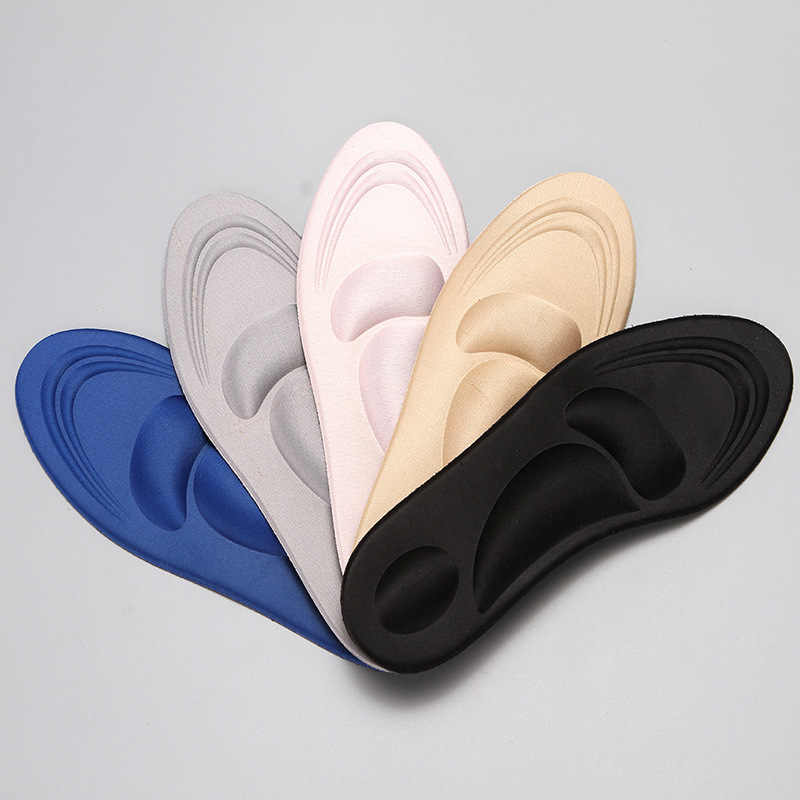 4D 5color flock Memory Foam Orthotic Arch Support Orthopedic Insoles For Shoes Flat Foot Feet Care Sole Shoe Orthopedic Pads