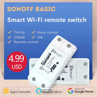 2019 Sonoff Basic 220v Wireless Control Wifi Switch Smart Home Automation Intelligent Wireless Center for Light 10A/2200W