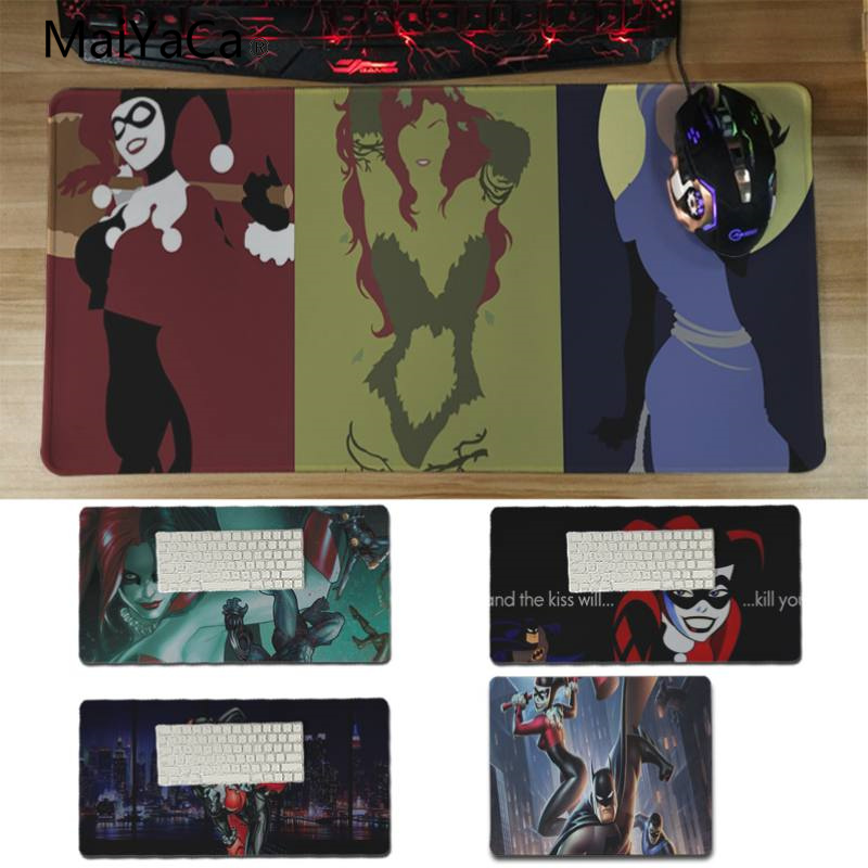 Yinuoda Hot Sales Anime Batman and Harley Quinn Laptop Computer Mousepad Size for 18x22cm 20x25cm 25x29cm 30x60cm