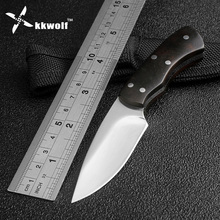 Very sharp Mini hunting Knife Fixed Blade Camping Tactical Survival Pocket Knives Ebony handle Outdoor EDC tools Free Shipping