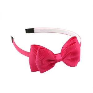 Image 5 - XIMA 14pcs/lot 4 Grosgrain Hair Ribbon Bow Headband Girls Plastic Teeth Hairband Tiaras Party Headband Hair Accessories