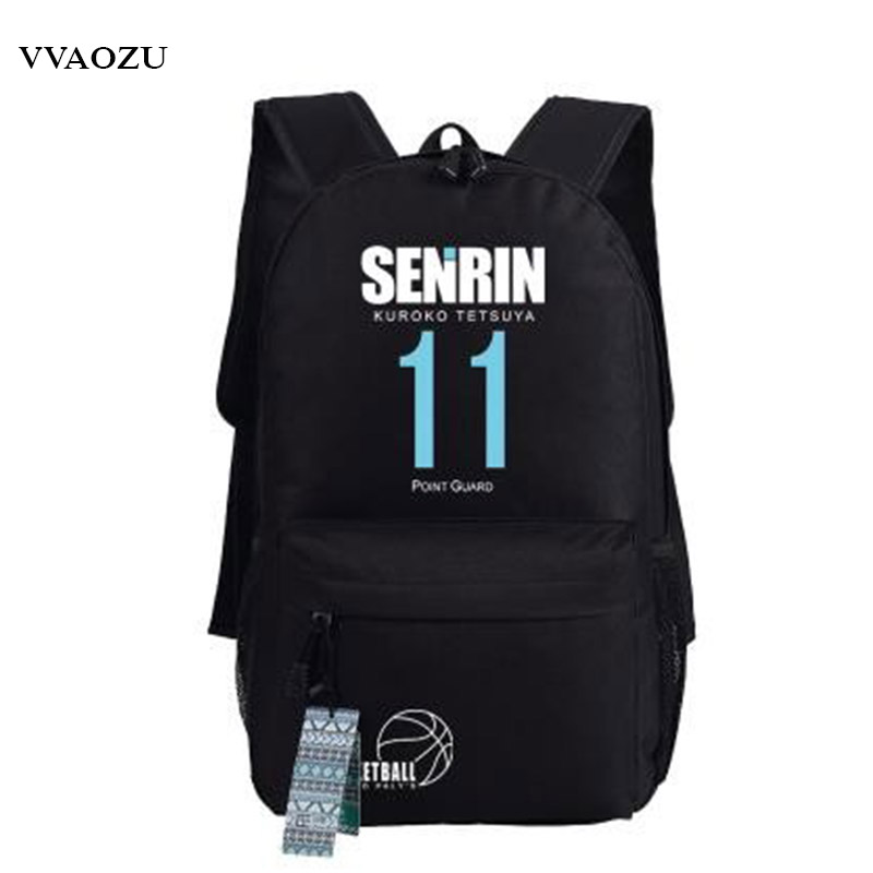 Kurokos Basketball Backpack School Bags for Boys Girls Kuroko no Basuke Cosplay Rucksack Shoulders Bag Free Shipping