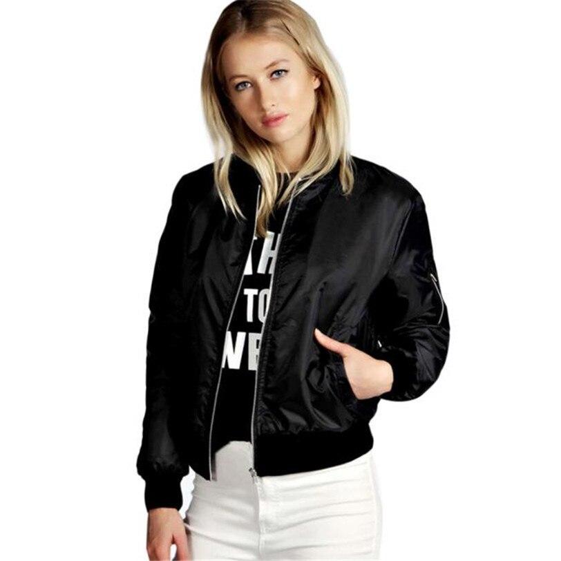 Women Long Biker Motorcycle Zipper Slim Soft Short   Basic     Jacket   Coat bomber Pockets   jacket   dropship Sexy Plus Size #F#40NV23