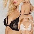 2016 Novas Mulheres Rendas Bralette Seamless Underwear Bra Suave Ultra Fino Preto Cueca Branca Mulheres Sexy Intimates Bra H165