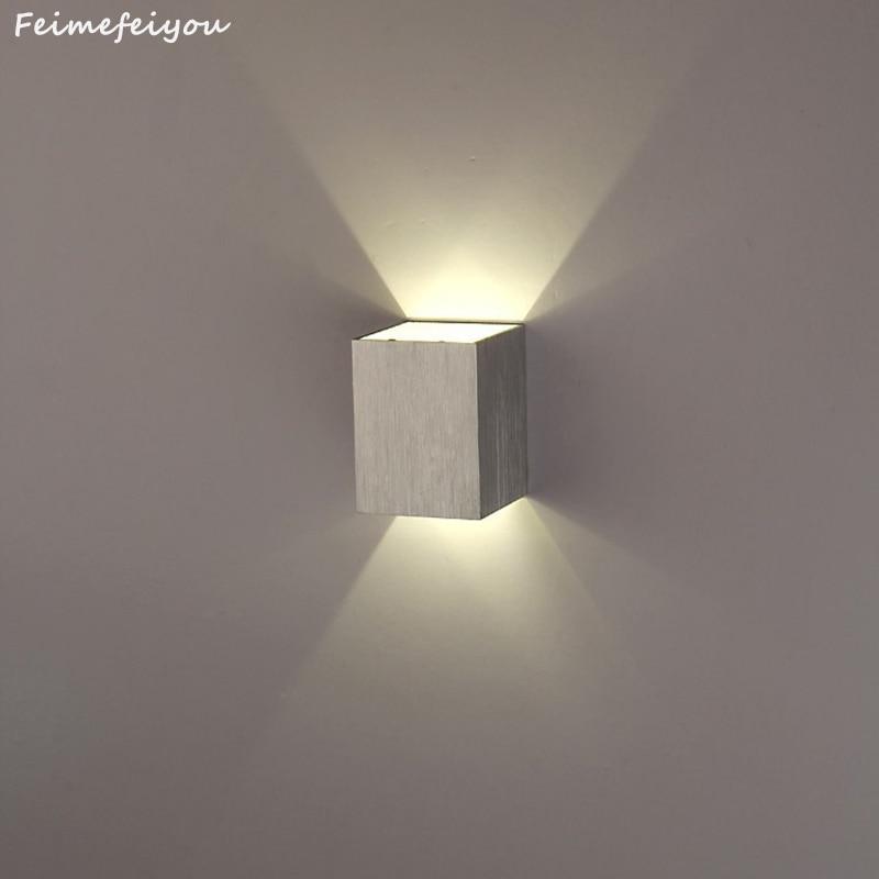 Led-innenwandleuchten Licht & Beleuchtung Feimefeiyou Lamparas Led Moderne Kurze Cube Up & Down Licht Montiert 3 W Led Wand Lampe Indoor Dekoration Aluminium Wand Lichter Dinge Bequem Machen FüR Kunden