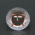 14 k Rose Gold Diamond Semi anillo de montaje de compromiso de diamantes de 1.0 quilates anillo Semi monte ajuste
