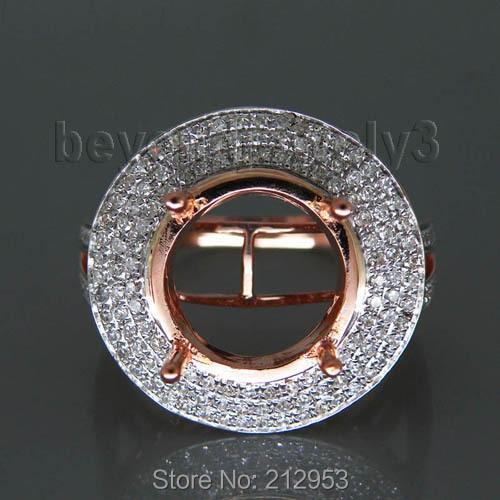 14k Rose Gold Diamond Semi Mount Engagement Ring 1.0 Carat Diamond Ring Semi Mount Setting14k Rose Gold Diamond Semi Mount Engagement Ring 1.0 Carat Diamond Ring Semi Mount Setting