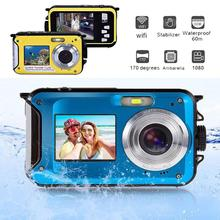 DC 5V 1A Dual Double Screen Waterproof Video Camera DV 1080P HD Action Mini Sports Camcorder Diving US Plug