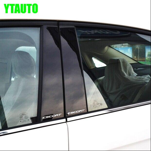Авто среднего окна планки для эскорта, 6 шт./компл., ПК, внешняя отделка автомобиля аксессуары