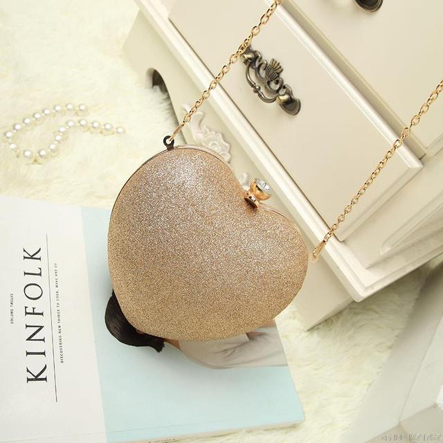 Tinkin Mini Women Heart Pearl Bag Fashion Evening Bag Part Time Must Have Bag Best Shoulder Bag Mobile Phone Case
