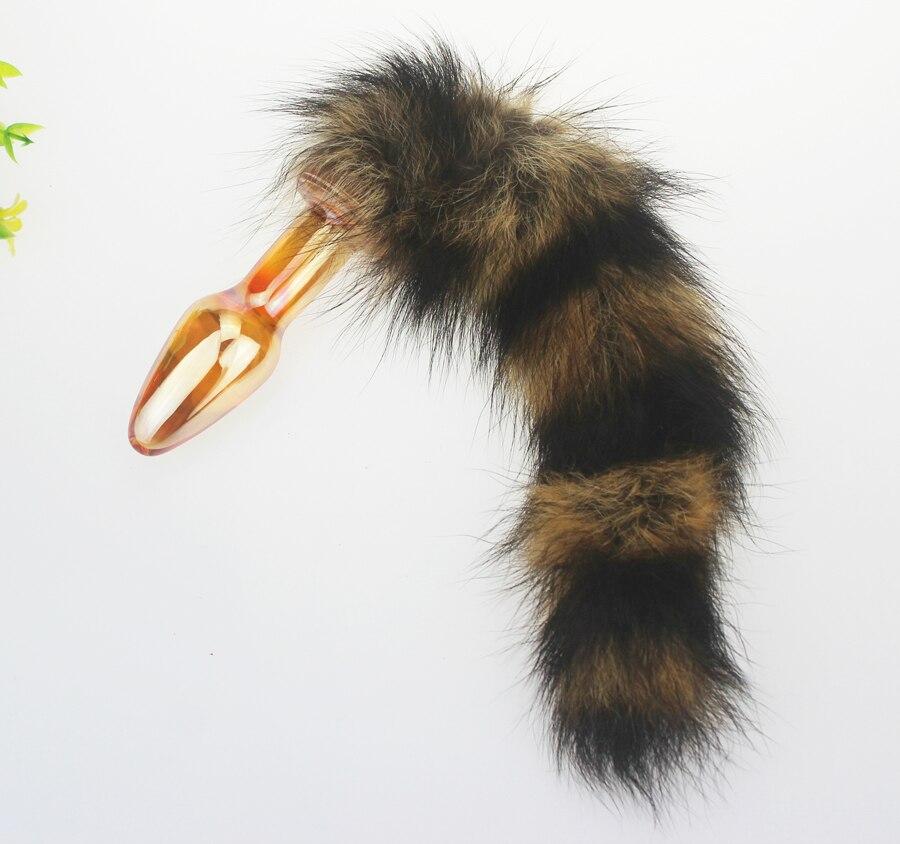 Мужская дикий лиса кошка хвост дворе стимулирование сексуальные девушки Butt Plug Кристалл Стекло анальный хвосты секс-игрушки для мужчин и же...