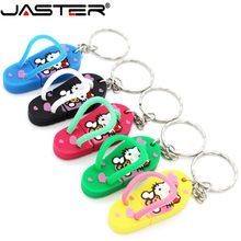 JASTER cute hello kitty shoes USB Flash Drive 4GB 8GB 16GB 32GB 64GB Pendrive USB 2.0(China)