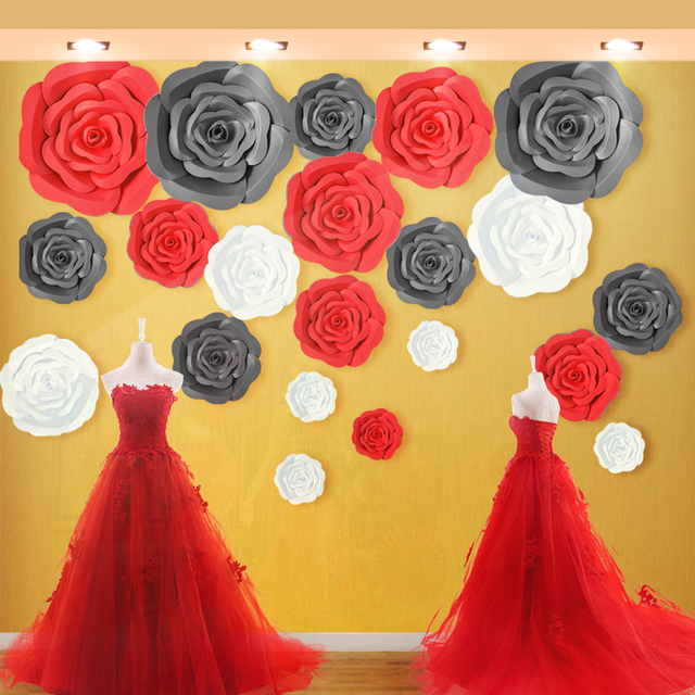 Giant Paper Flower Set Large Paper Flower Big Paper Flower For