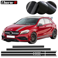 Edition 1 Style Side Stripes Top Roof Hood Bonnet Decal Stickers for Mercedes Benz W176 A Class A45 AMG A200 A180 4 colors