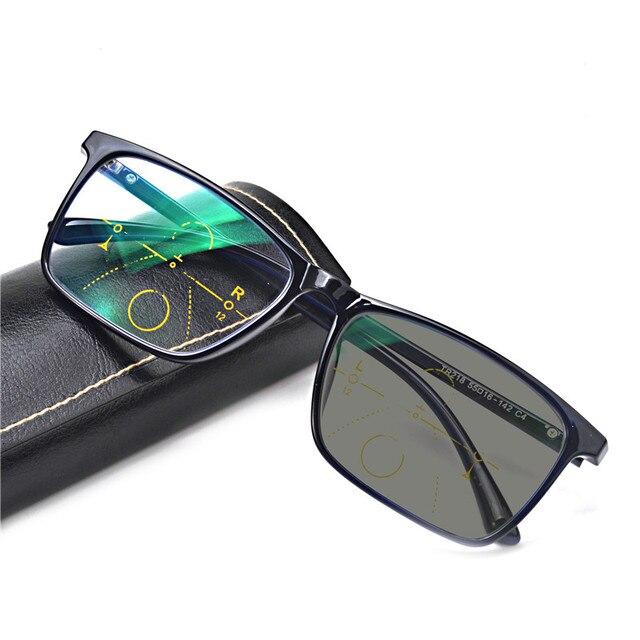 7fcd26763b3 MINCL Transition Sunglasses Photochromic Progressive Reading Glasses Men  Multifocal Points for Reader Near Far sight diopter NX