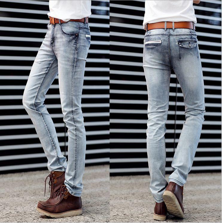 Super Soft Thin Super Elastic Jeans Men Denim Trousers New Summer ...
