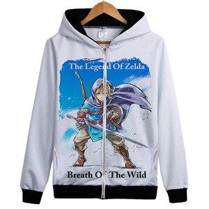 Image 1 - The Legend Of Zelda Áo Sweatshirt Trò Chơi Hơi Thở của các hoang dã Hoodie Jacket Coat Liên Kết Of Zelda Người Hâm Mộ Trùm Đầu Thể Thao Hàng Đầu quần áo