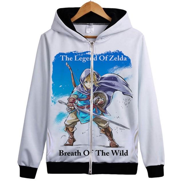 The Legend Of Zelda Áo Sweatshirt Trò Chơi Hơi Thở của các hoang dã Hoodie Jacket Coat Liên Kết Of Zelda Người Hâm Mộ Trùm Đầu Thể Thao Hàng Đầu quần áo